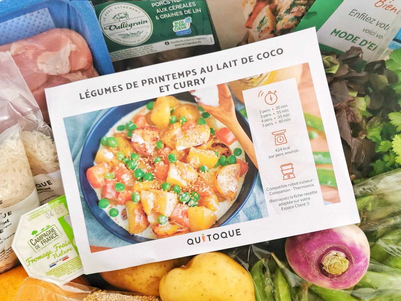 Fiche recette Quitoque