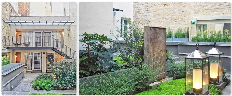 JARDIN INTERIEUR Hotel La Lanterne Paris