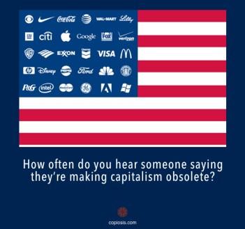 Capitalism flag