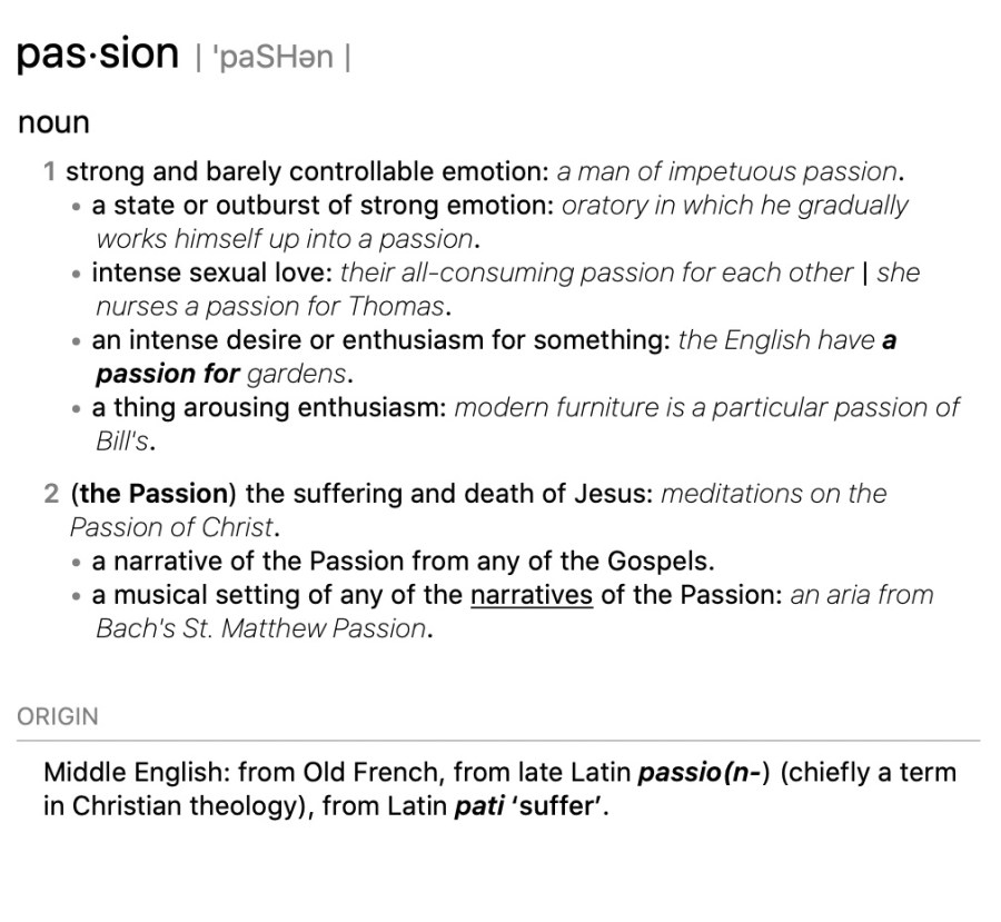 Passion definition