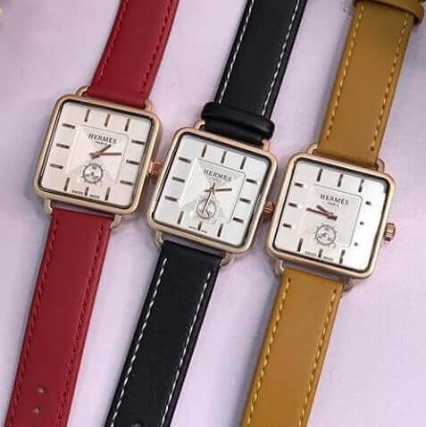 Hermes-leather-wristwatch-unisex