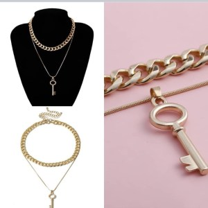 Key Layered Necklaces