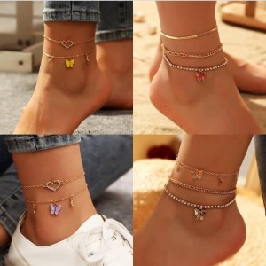 Multi Layered Anklets