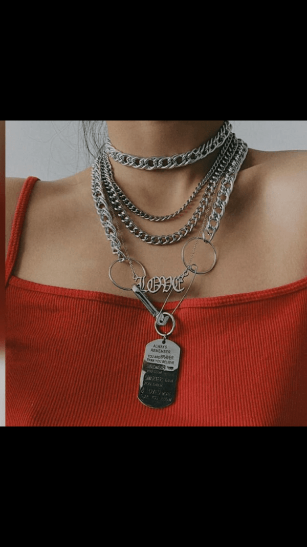 Silver Love Layered Necklace