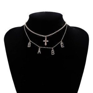 Cross Babe Layered Necklaces