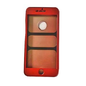 360 Full Rubber Iphone Case Cover For Iphone 7 Red