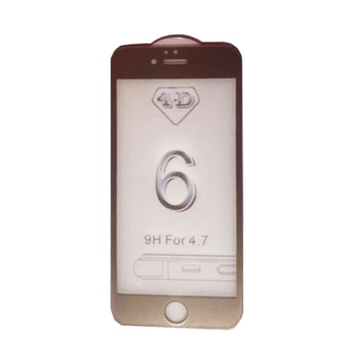 4d Tampered Glass Screen Protector For Iphone 6 – Gold