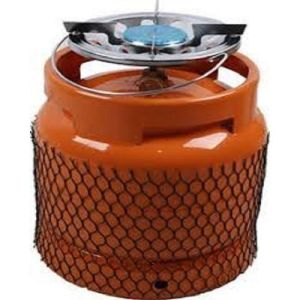 6kg Refillable Camping Gas Cylinder With Stainless Burner- Orange