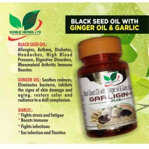 Edible Herbs Ltd Garligin-k Black Seed Oil For Asthma And Infection Treatment