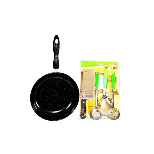 Frying Pan And Butcher Knife Set