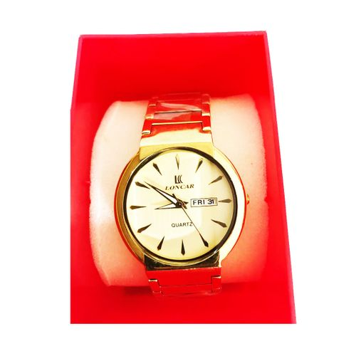 Loncar Wristwatch Round Face Lc-1634m- Gold