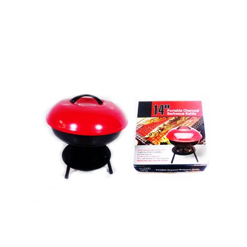 Portable Barbecue Charcoal Grill- 14″ For Indoor And Outdoor -14