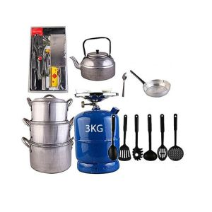 The Renew Economy Kitchen Bundle(3kg Gas Cylinder & Kitchen Utensils)