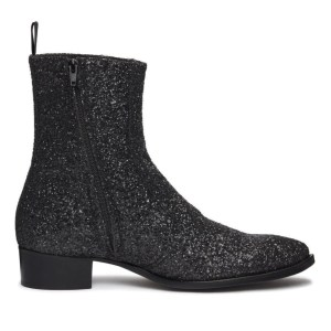 Black Glitter Luca Boot