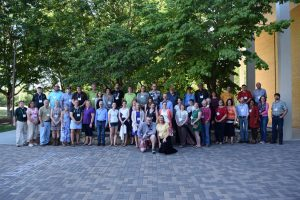 Large group photo of all COPLACDigital June Convening participants: faculty, archivists, and instructional technologists, as well as COPLACDigital grant personnel.