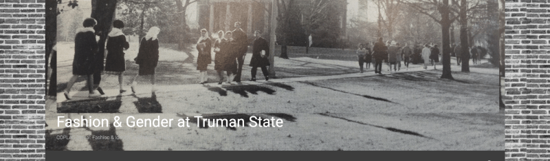 Screenshot of the homepage of the Fashion and Gender at Truman website