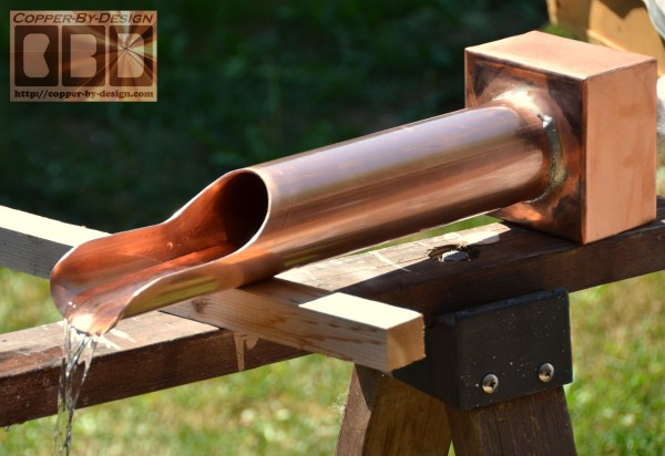 Copper Pipe Water Feature