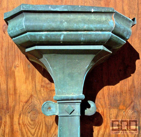 Copper Scupper Gutters and Downspouts