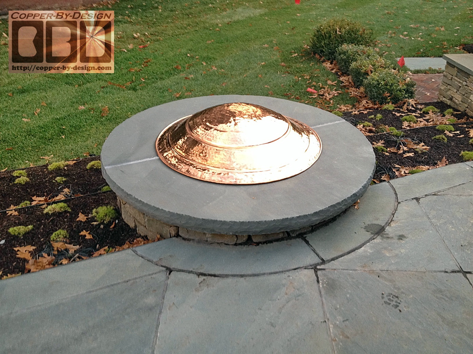 Copper firepit cover