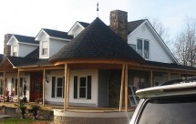 Front Porch Round Roof Design