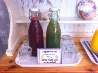 Try our homemade juices