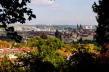 Prague from the climb up Petrin Hill