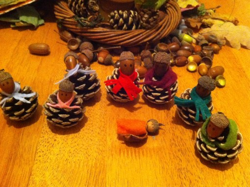 Our adorable acorn family, how cute is that baby!!
