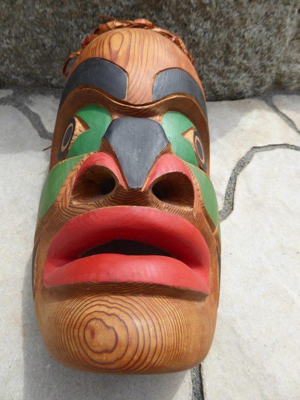 Native American Mask Northwest Coast Copper Shield