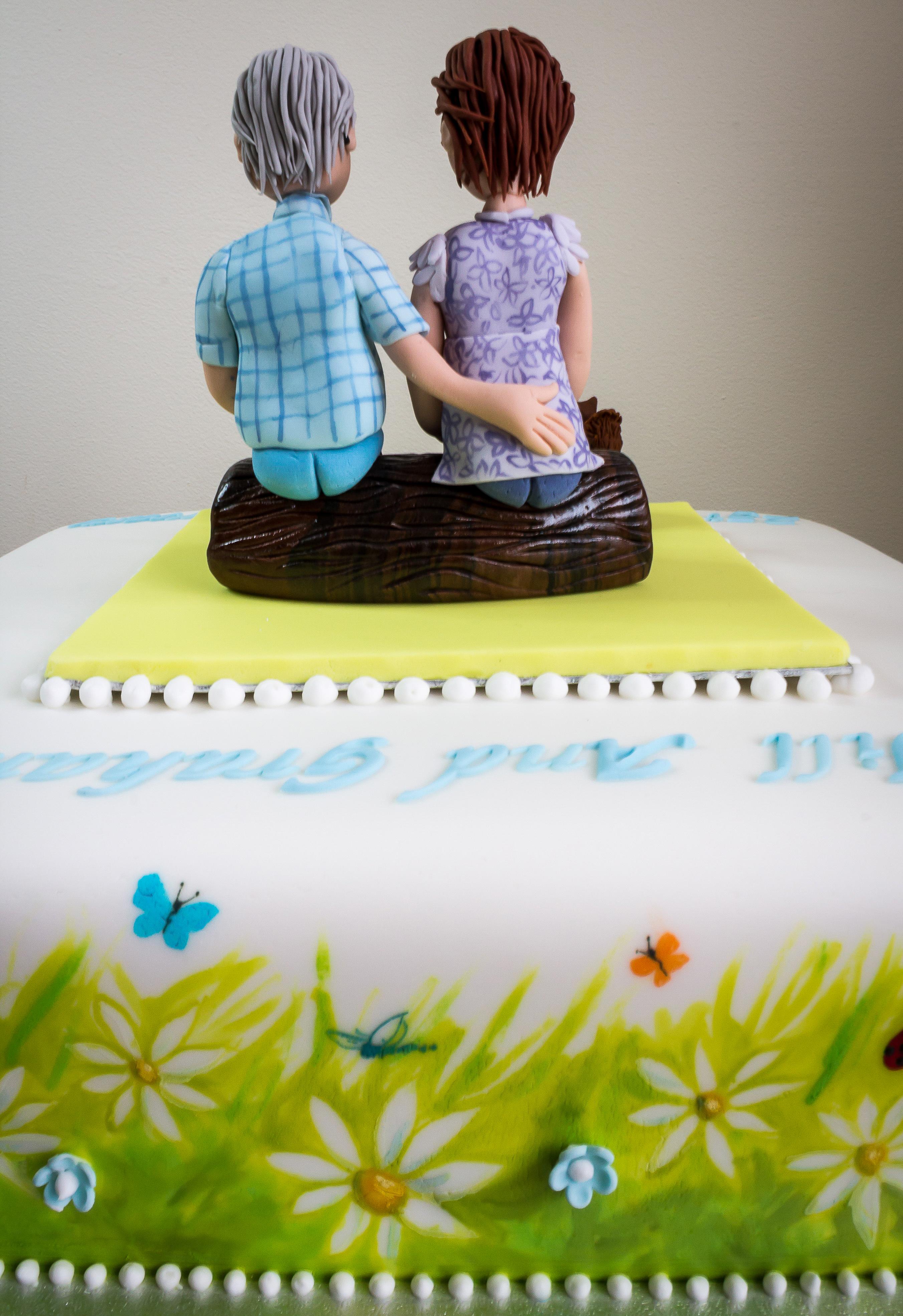 Hand Painted Ramblers 25th Wedding Anniversary Celebration