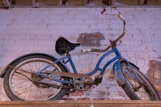 Dutch Lady Antiques Blue Bicycle