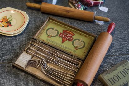 Dutch Lady Antiques Silverware and Rolling Pins
