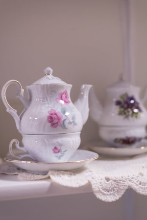 Teapot and More Hand-Painted Chinaware