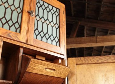 Restored Coppes Napanee hardwood Cabinet