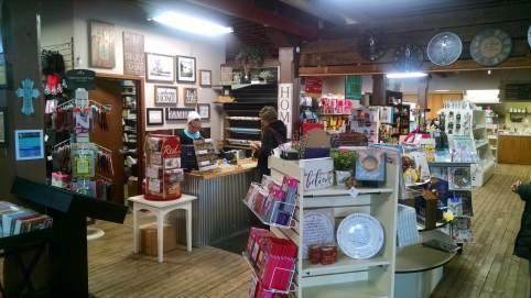 wide angle of shop