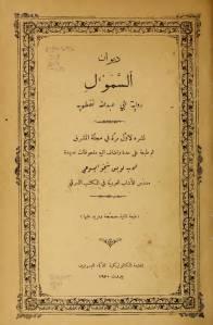 غلاف ديوان السمول - رواية أبي عبد الله نفطويه - نشره الأب لويس شيخو اليسوعي.jpg
