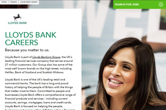 Copywriting and content strategy example - banking, finance, careers and recruitment