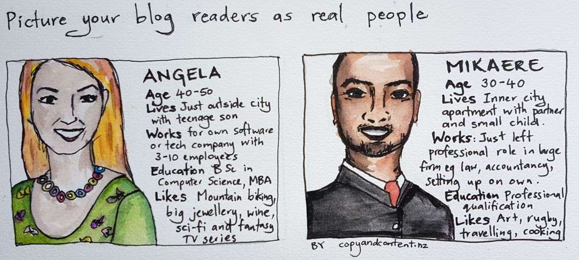 Illustration of how to picture blog readers as real people