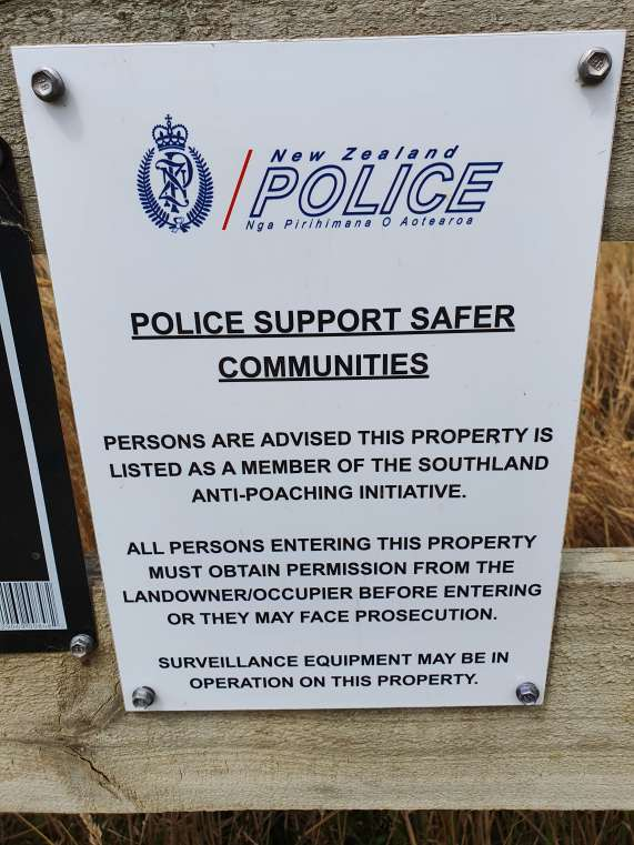 Police sign about poaching written in stuffy, old-fashioned language