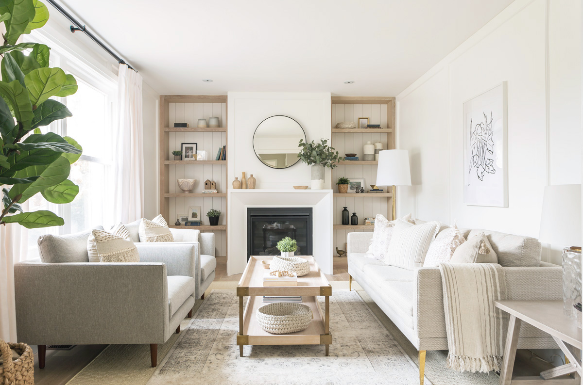 This Serene, Natural And Neutral Living Room From Coco
