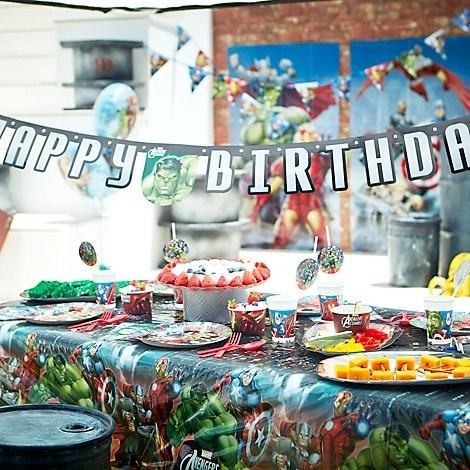 avengers tablewear, marvel-ous superhero party