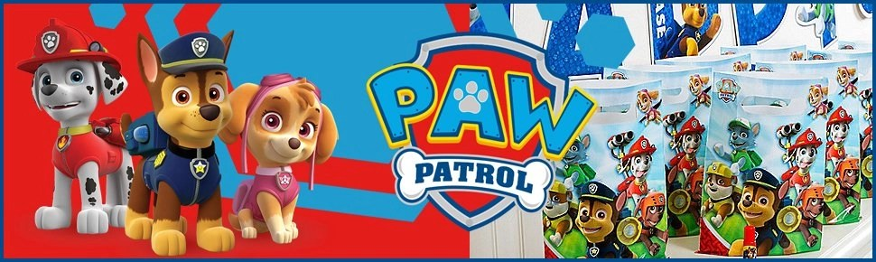paw patrol party bag banner