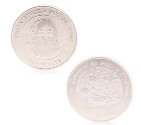 santa wishing coin