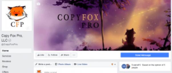 Copy Fox Pro Social Media Agency Digital Marketing Digital Media Copywriter Copyeditor Content Creation Social Media Marketer Social Media Manager Copy Fox Pro By Laurrel Allison Verified Facebook Business Page