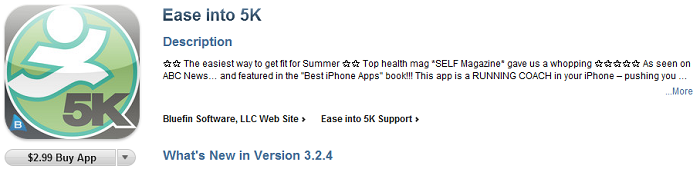 "App Store Copywriting for ""Ease Into 5K"""