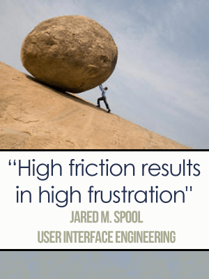 Friction in Copywriting