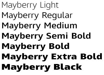 Font families for DIY design