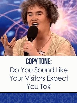Tone of copy