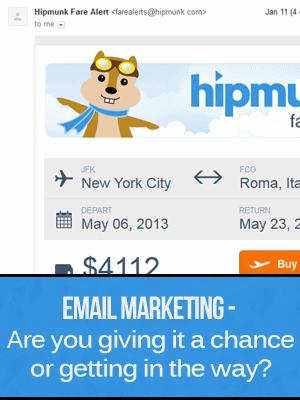 Hipmunk Email Marketing