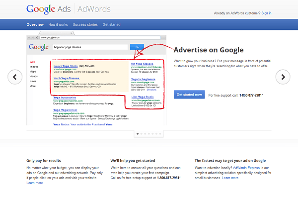 Landing Page for Google Ad