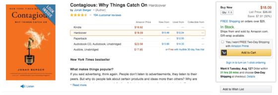 Amazon web personalization